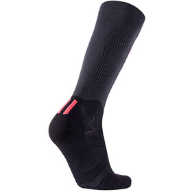 UYN Run Compression Fly Chaussettes Femme, anthracite/coral fluo